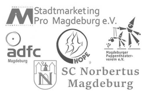 Über uns - eldoRADo. engagiert sich als Mitglied im adfc Magdeburg, Stadtmarketing Pro Magdeburg, Magdeburger Puppentheaterverein und unterstützt Hope und SC Norbertus Magdeburg