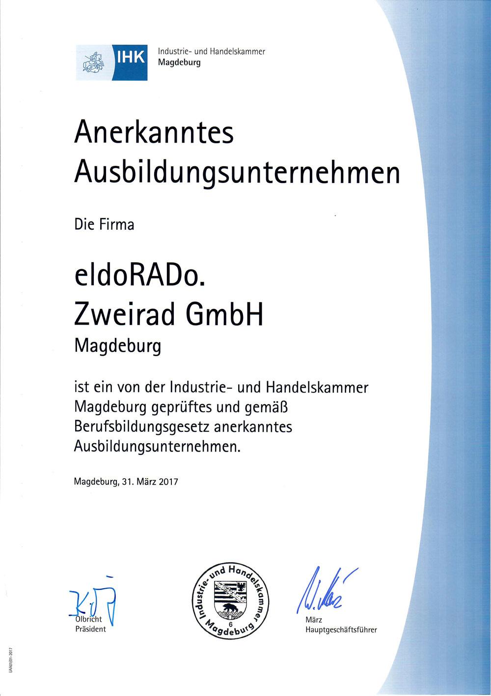 Ausbildung - IHK Zertifikat