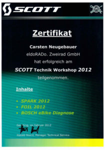 C.N. SCOTT Technik Workshop 2012