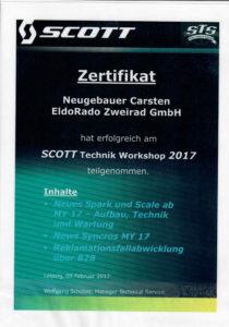 C.N. SCOTT Technik Workshop 2017