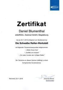 D.B. Schwalbe Händlerseminar 2016