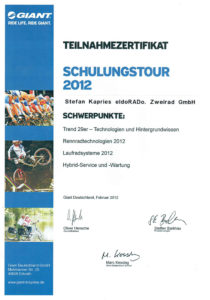 S.K. Giant Schulungstour 2012