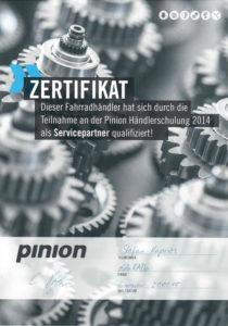 S.K. Pinion Händlerschulung 2014