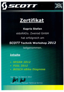 S.K. SCOTT Technik Workshop 2012