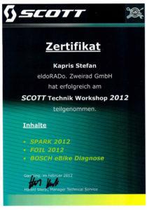 S.K. SCOTT Technik Workshop 2012