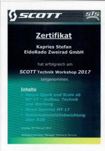 S.K. SCOTT Technik Workshop 2017