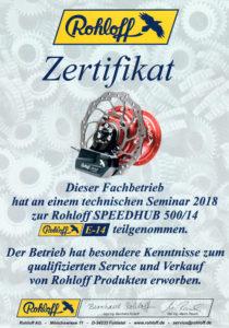 Rohloff Seminar 2018