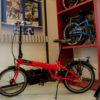 auseinandergefaltetes Faltrad