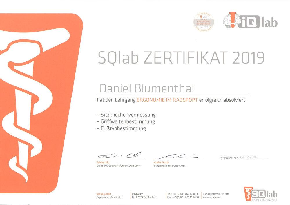 D.B SQlab Zertifikat 2019