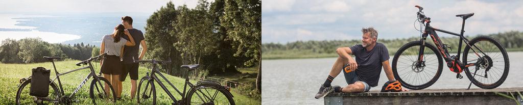 Fahrräder und E-Bikes u. a. von Giant und KTM