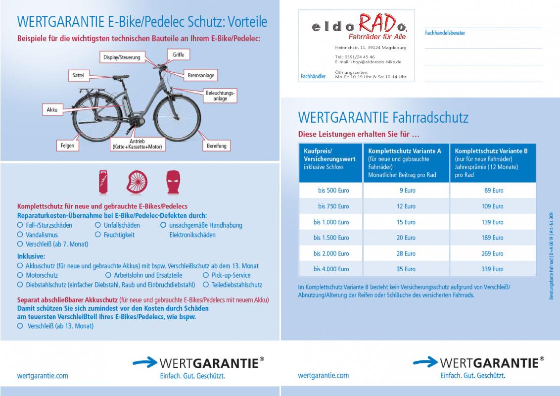 Wertgarantie Beitragsuebersicht E-Bike