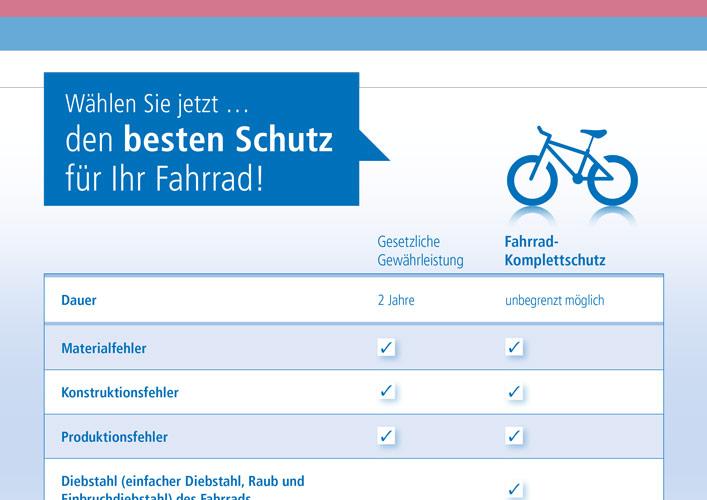 Wertgarantie Leistungen Fahrrad