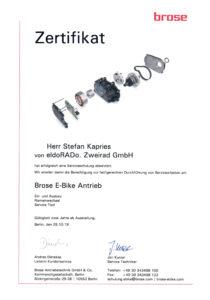 S.K. Brose Service-Schulung 2019