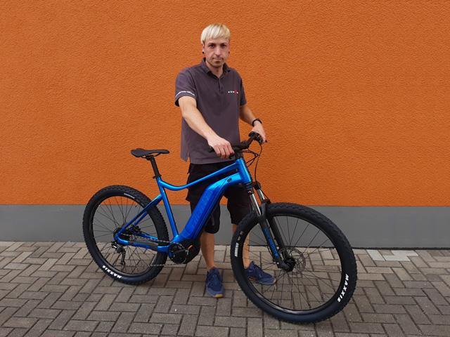 Jens Steinbach mit seinem E-Bike